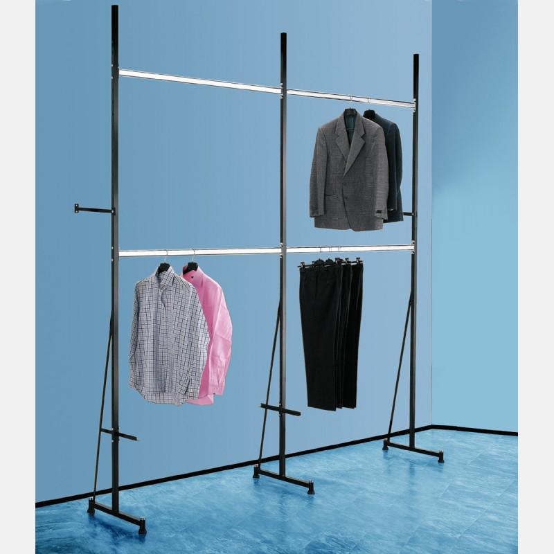 kleiderstange chrome 146cm f r regalsysteme iseo storeforshop prisma s r l. Black Bedroom Furniture Sets. Home Design Ideas