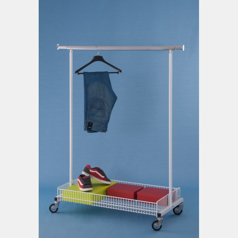 kleiderst nder weiss mit gitterkorb storeforshop. Black Bedroom Furniture Sets. Home Design Ideas