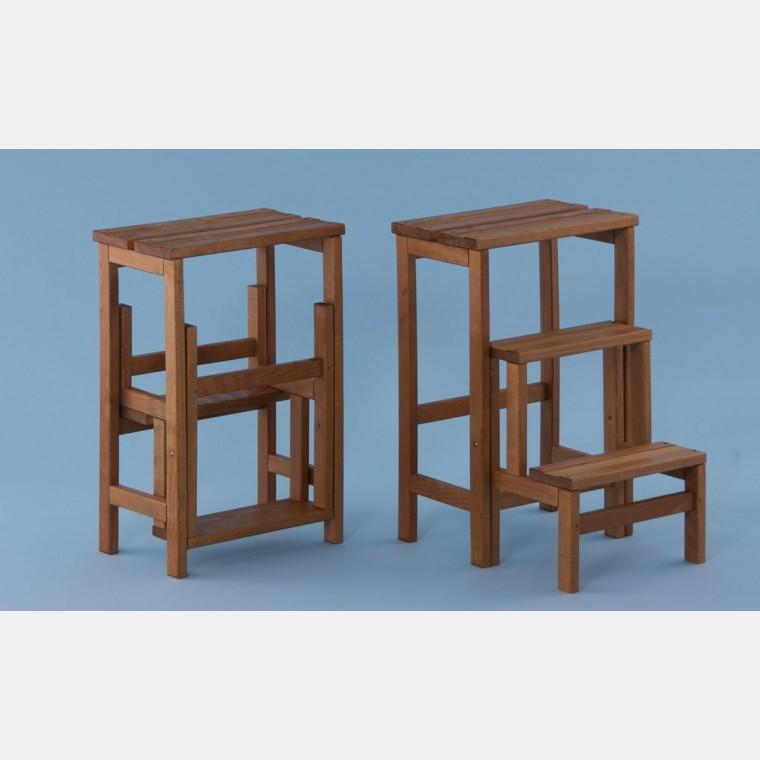 Tritthocker Holz Mit Einklappbaren Stufen Storeforshop Prisma Srl